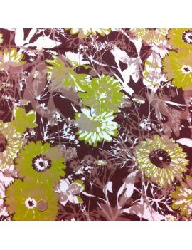 voile de coton jungle fleur