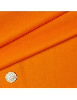 popeline coton orange