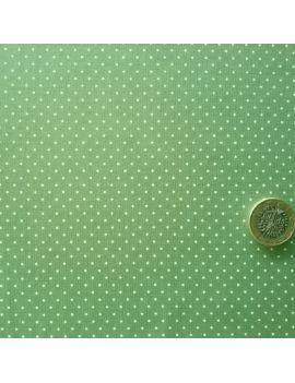 pois tête d'épingle vert amande