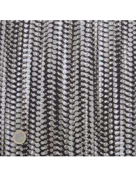 satin coton collier de perles choco