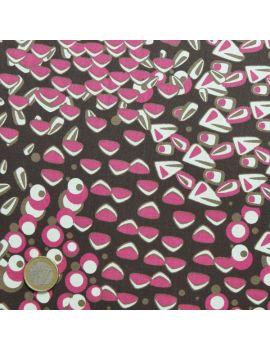 satin coton papillon fushia