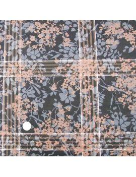 Voile de coton fleurs