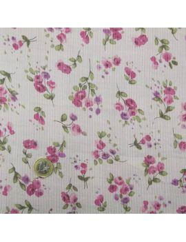 Voile de coton roses