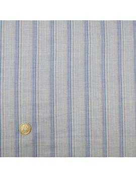 Voile de coton carreaux bleus