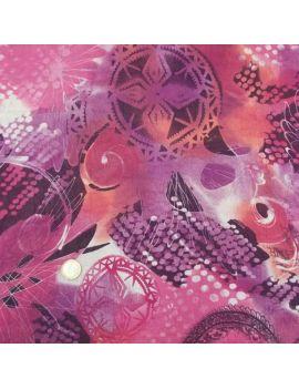 Voile de polyester violet