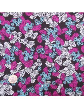 crepe de polyester fleur fushia
