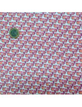voile polyester carrŽ geo orange